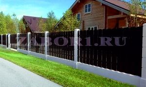 бетоный забор