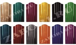 образцы штакетника в порошковой окраске