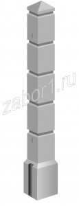 Столб бетонный КУБИКИ