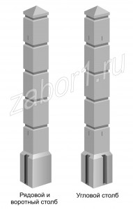 Столб бетонный КУБИКИ2