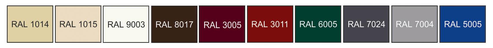 базовые цвета RAL одностороннее полимерное покрытие